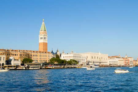 Venice landscape, San Marco bell tower and ducal palace. Italian architecture Redakční