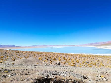 Bolivian lagoon landscape, Aguas Termales de Polques,Bolivia