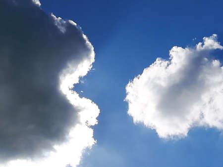 Clouds on blue sky. Clouds detail Reklamní fotografie