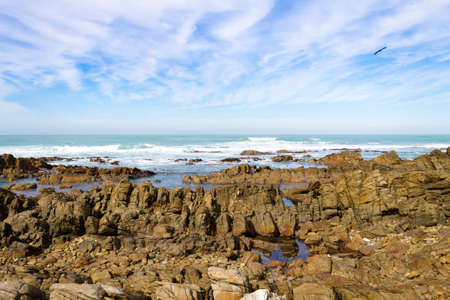 Cape Agulhas beach view, South Africa.the southern most tip of african continent