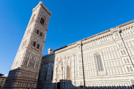 Florence Cathedral and Giottos bell tower, Italian panorama. Tuscany landmark Reklamní fotografie