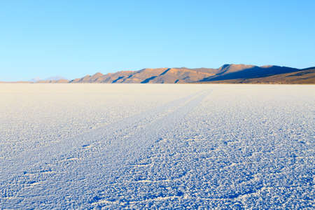 Salar de Uyuni, Bolivia. Largest salt flat in the world. Bolivian landscape