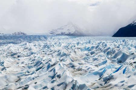 Walking on Perito Moreno glacier Patagonia, Argentina. Patagonian scenery 免版税图像