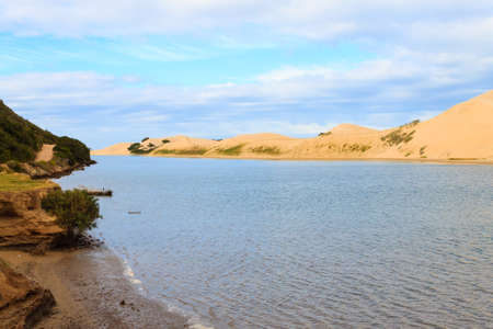 Addo Elephant National Park marine area landscape. Sand dunes at coastline. African panorama, South Africa