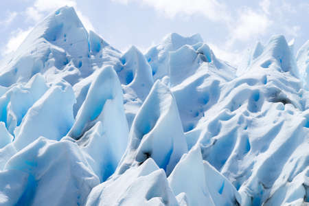 Perito Moreno glacier ice formations detail view, Patagonia, Argentina Stock Photo