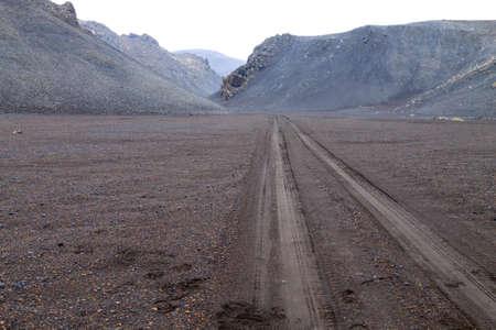 Desolate landscape, Askja caldera area, Iceland. Central highlands of Iceland