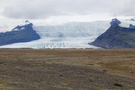 Iceland glacier. Vatnajokull glacier view, south Iceland landscape.
