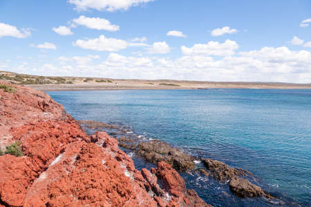 Punta Tombo beach day view, Patagonia landscape, Argentina