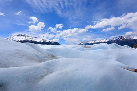 Walking on Perito Moreno glacier Patagonia, Argentina. Patagonian scenery Stock Photo