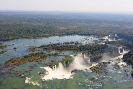 Helicopter view from Iguazu Falls National Park, Argentina. World heritage site. South America Adventure travel