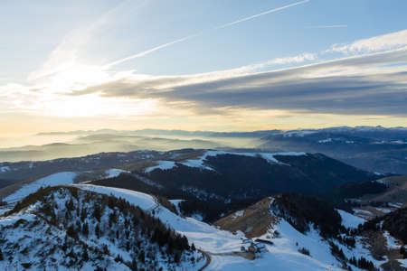 Mountain landscape with dramatic sky, Italian Alps