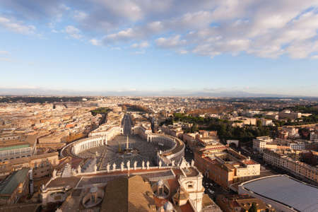 Saint Peter square aerial view, Vatican city. Rome landscape, Italy Imagens