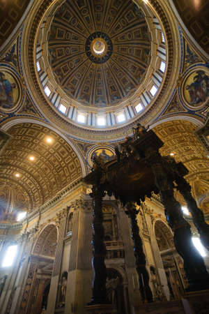 Saint Peter basilica inner view, Rome, Vatican city. Church view Editorial