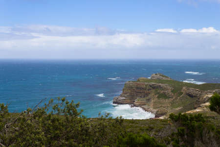 View of Cape of Good Hope South Africa. African landmark. Navigation 版權商用圖片 - 131733918