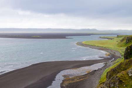 Hvitserkur sea stack, Iceland. Black sand beach. North Iceland landmark 版權商用圖片