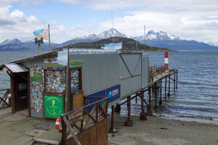 USHUAIA, ARGENTINA - NOVEMBER 27, 2018: Tierra del Fuego postal office. Southernmost postal office in the world
