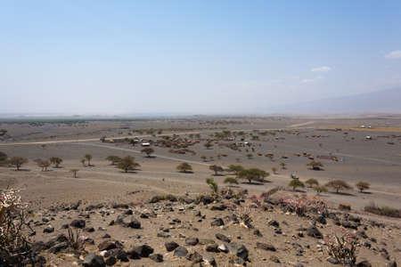 Lake Natron area landscape, Tanzania, Africa. African panorama Фото со стока