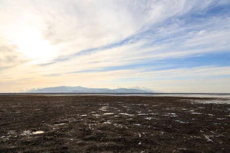Lake Manyara landscape, Tanzania. Dramatic sky. Panorama from Africa