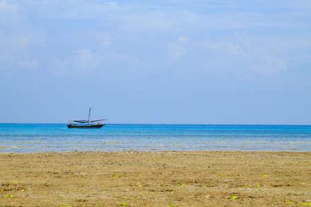 Zanzibar beach landscape, Tanzania, Africa panorama. Indian ocean scenery Фото со стока