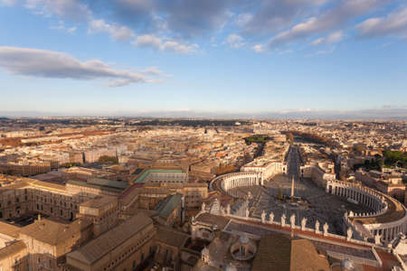 Saint Peter square aerial view, Vatican city. Rome landscape, Italy Stockfoto