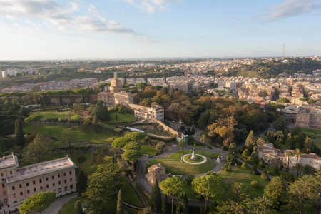 Vatican city gandens aerial view, Rome. Roma landscape, Italy Reklamní fotografie