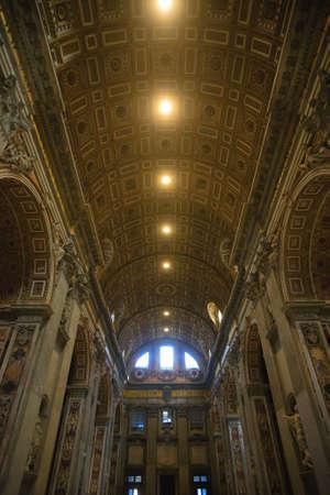 Saint Peter basilica inner view, Rome, Vatican city. Church view Stockfoto