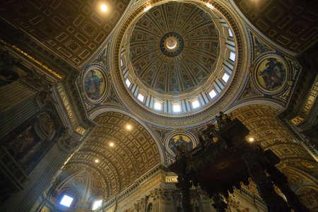 Saint Peter basilica inner view, Rome, Vatican city. Church view