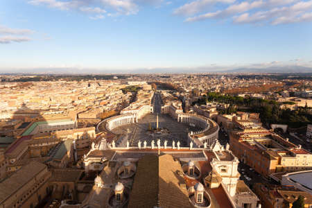 Saint Peter square aerial view, Vatican city. Rome landscape, Italy Archivio Fotografico