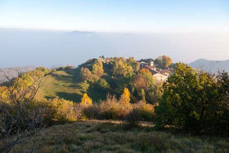 Hermitage of Conche, Trompia valley, Brescia. Italy alps landmark Archivio Fotografico