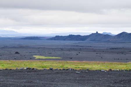 Desolate landscape from Kverfjoll area, Iceland panorama. Sigurdarskali location Archivio Fotografico