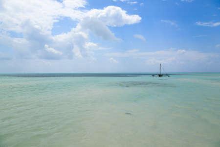 Zanzibar beach landscape, Tanzania, Africa panorama. Indian ocean scenery Archivio Fotografico
