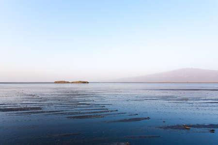 Lake Natron landscape, Tanzania, Africa. African panorama