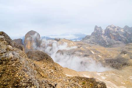 Dolomites landscape, Rosetta plateau, San Martino di Castrozza. Italian alps Archivio Fotografico - 148990112