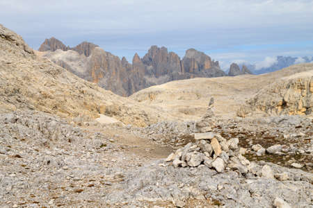 Dolomites landscape, Rosetta plateau, San Martino di Castrozza. Italian alps Archivio Fotografico - 148990119