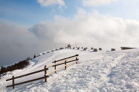 First world war memorial landmark, Italian alps, mount Grappa. Archivio Fotografico - 149029425