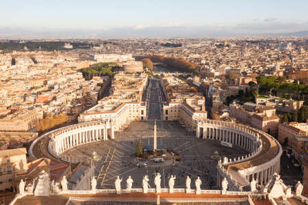 Saint Peter square aerial view, Vatican city. Rome landscape, Italy Editoriali