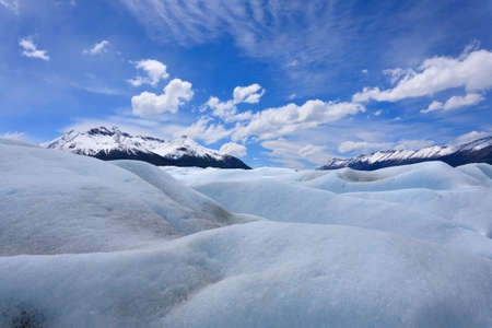 Walking on Perito Moreno glacier Patagonia, Argentina. Patagonian scenery Archivio Fotografico