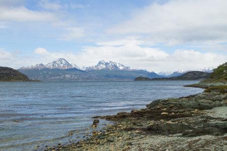Hoste island view, Tierra Del Fuego National Park, Argentina. Land of fire Archivio Fotografico