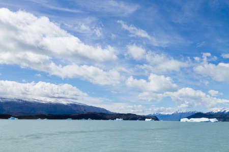 Upsala Glacier view from Argentino lake, Patagonia landscape, Argentina. Lago Argentino Archivio Fotografico