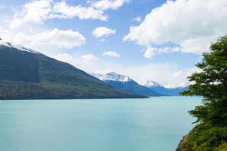 Argentino lake landscape, Perito Moreno glacier area, Patagonia, Argentina. Patagonian scenery