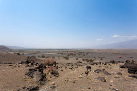 Lake Natron area landscape, Tanzania, Africa. African panorama Archivio Fotografico