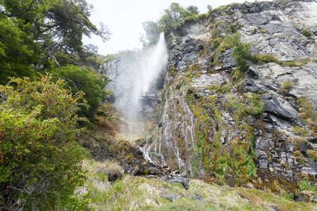 Waterfall near Perito Moreno glacier, Patagonia, Argentina Archivio Fotografico