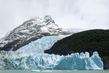 Spegazzini Glacier view from Argentino lake, Patagonia landscape, Argentina. Lago Argentino