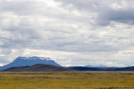 Iceland landscape. Heroubreio tuya view from Highlands of Iceland