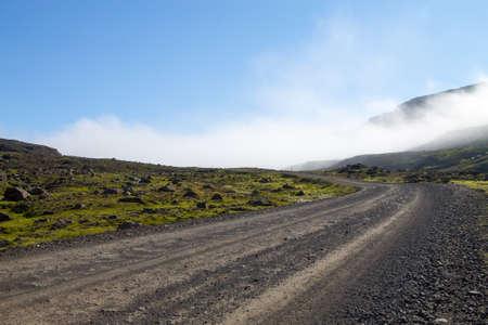 Mjoifjordur rural landscape, east Iceland. Icelandic view