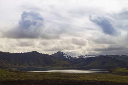 Viti caldera at Askja, Iceland. Central highlands of Iceland landmark. Volcanic view