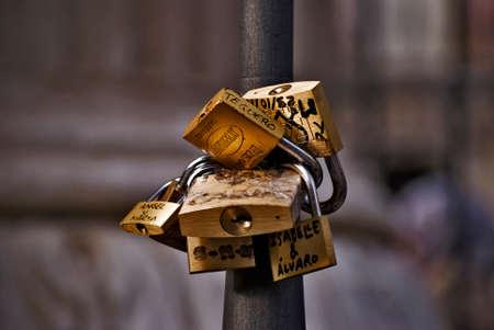 Golden locks hooked into a bar