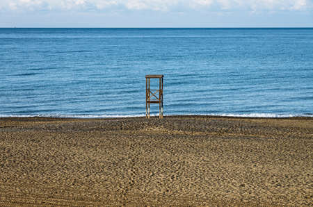Lifeguard tower on the tuscany coast during winter Stock Photo - 25215221