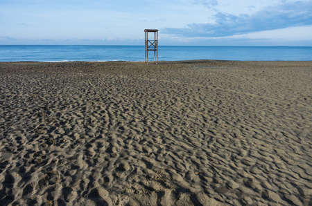 lifeguard tower: Lifeguard tower on the tuscany coast during winter