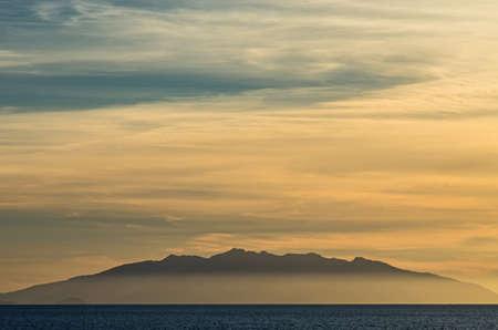 capraia: View of Elba Island from the tuscany coast